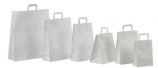 Белые крафт-пакеты с плоскими ручками, печать на пакетах Днепр