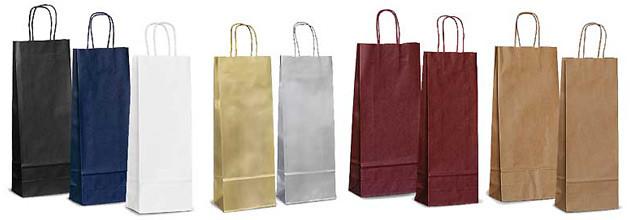 Бумажные крафт-пакеты под бутылку, печать на пакетах Днепр