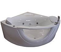 Ванна угловая гидромассажная 1500*1500*630мм, акриловая