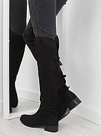 02-16 Черные замшевые женские сапоги PE120P 40,39,37,38