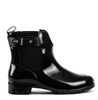 Черные женские резиновые ботинки KO KA-U BLACK