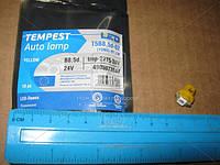 Лампа LED панель приборов, подсветкa кнопок T5B8,5d-02 (1SMD) W1.2W B8.5d  ,желтая 24V  (арт. tmp-27T5-24V)