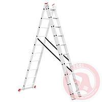 Лестница  3-х секционная универсальная INTERTOOL LT-0310 Код:323083457