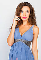 Сарафан женский синий, под грудь №19PG032 (Бледно-сиреневый)