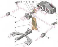Корпус печки (отопителя) ВАЗ-2110, 2111, 2112  старого образца завод Код:510645016