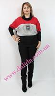 Стильный свитер батал
