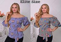 Женская стильная блуза больших размеров (2 цвета)