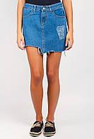 Юбка женская высокая посадка джинсовая 507KY002 (Синий)