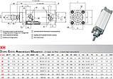 Пневмоцилиндр по ISO 15552 / 6431 Type X, фото 5