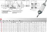 Пневмоцилиндр по ISO 15552 / 6431 Type X, фото 6