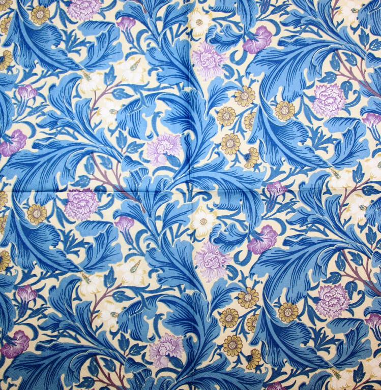 Салфетки декупажные орнамент синий 2344