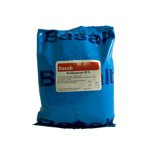 Фенбендазол 20% порошок 500 г (Базальт) противопаразитарный ветеринарный препарат