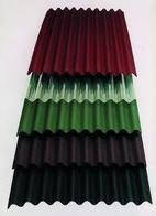 Ондулин 0,95*2м лист красный, зеленый, коричневый с доставкой