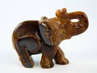 Статуэтка Слон тигровый глаз
