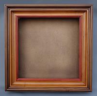 Киот для иконы ровный из ольхи, с деревянным багетом, с трёхцветной тонировкой. , фото 1