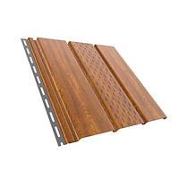 Сайдинг потолочный перфорированный (софит) ПВХ (4,0х0,31), золотой орех, 80-019, Bryza
