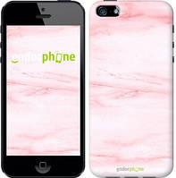"""Чехол на iPhone 5 розовый мрамор """"3860c-18-8079"""""""