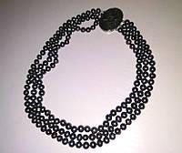 Ожерелье из Натурального Черного ЖЕМЧУГА