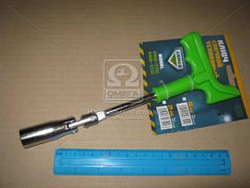 Ключ свечной,пластиковая ручка,  усиленный 16мм  (арт. arm-st16)
