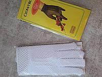 Рукавички жіночі гіпюрові( сіточка )короткі 20-22 см. Білі