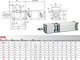 Пневмоцилиндр по ISO 15552 / 6431 Type X, фото 7