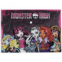 Папка на кнопке А4 KITE Monster High MH13-200K