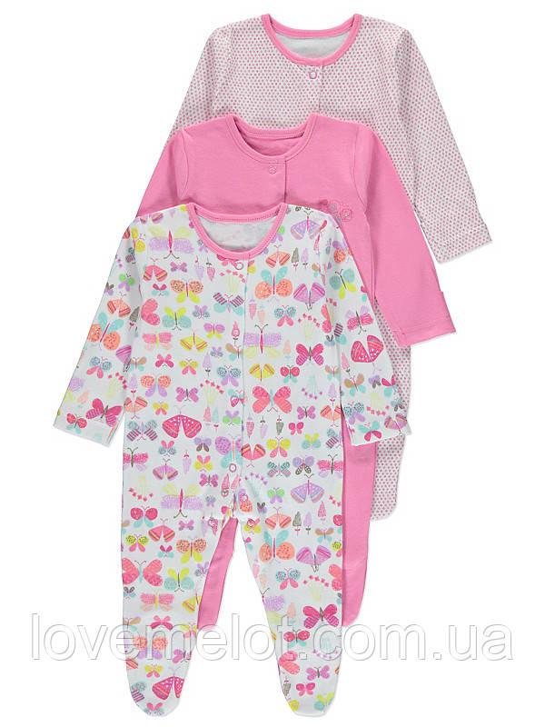 """Человечки для новорожденных слипы для детей """"Расцвет"""", размер 56 см, набор 3 шт."""