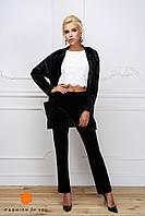 Женский модный костюм из бархата: жакет и брюки (4 цвета) белый, XS