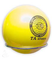 Мяч художественной гимнастики D-19см .(жёлтый) Т-8