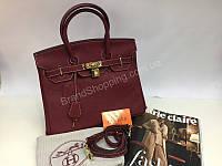 Кожаная сумка Hermes Birkin Lux марсал 1359, фото 1
