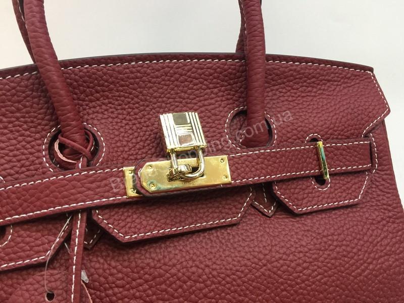 Кожаная сумка Hermes Birkin Lux 30 см цвет марсал 1359 - купить по ... 3e67e8ed81c
