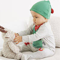 """Детский человечек хлопковый нарядный с шапочкой Next """"Эльф"""" размеры 62см, 68см, 74см для малыша"""