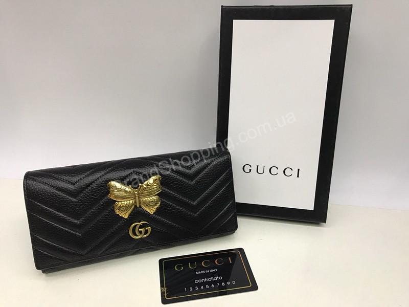 2c1f3a69e127 Стильный женский кошелек Gucci из натуральной кожи 1588 - Trendshops в  Харькове
