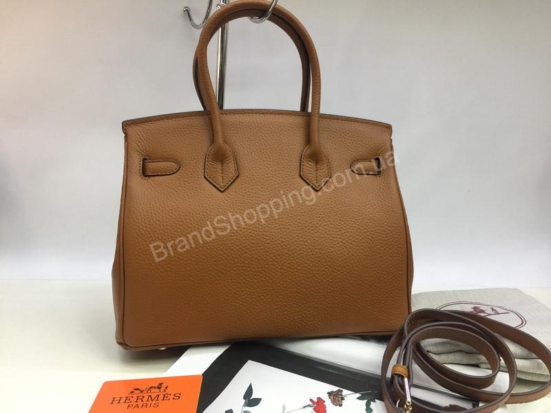136015f59365 Шикарная женская сумочка (сумка ) Hermes Birkin 30см рыжая 1599, ...