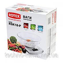Весы кухонные с чашей электронные ROTEX RSK18-P