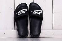 Шлепанцы летние мужские Nike Black (реплика, черный)