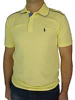 Яскрава чоловіча тениска Поло 0270 жовт.