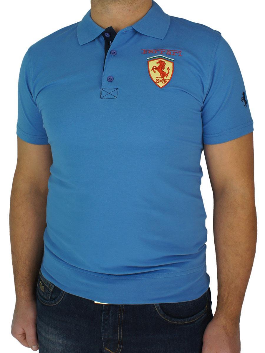 Однотонна чоловіча теніска 4320 синього кольору