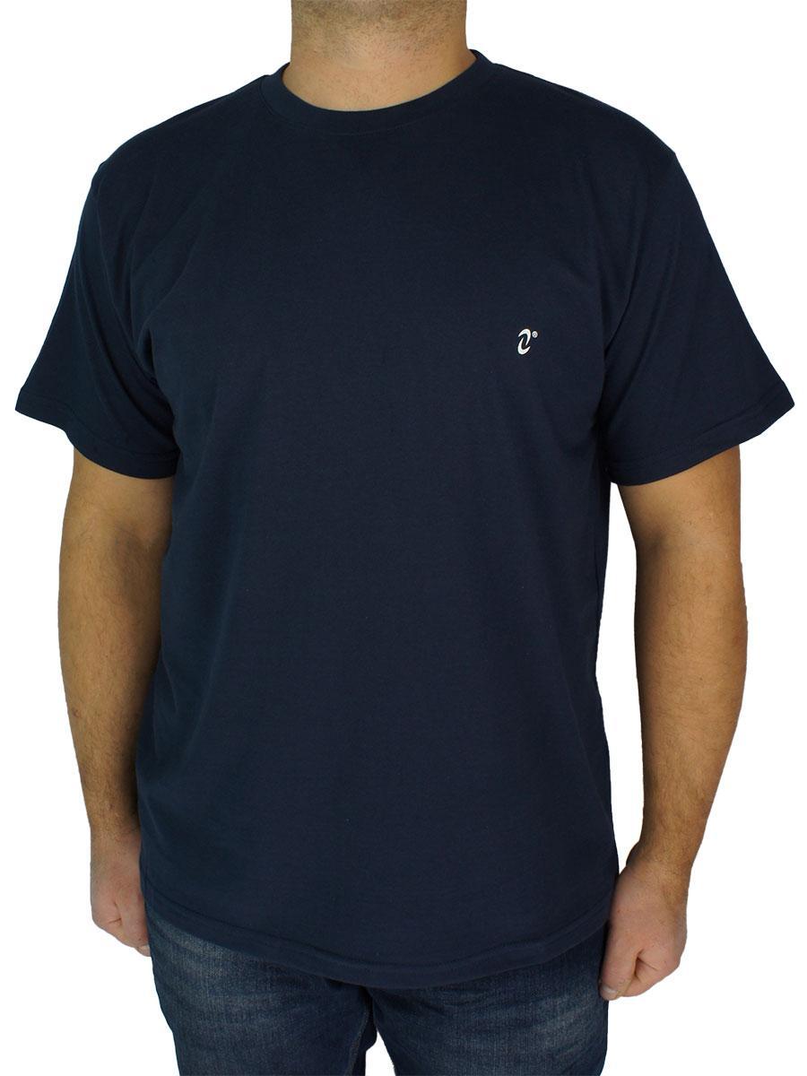Чоловіча однотонна футболка Neti MSY-001 темно-синя (Польща)