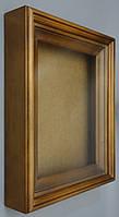 Киот для иконы ровный, с деревянным багетом.