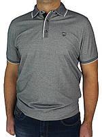 Тениска сіра чоловіча Better Life 857 на манжеті