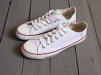 Кеды тряпчаные летние унисекс Converse All Star White (конверсы, реплика)