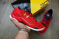 Мужские стильные кроссовки Under Armour Curry 2 Low Red (реплика)