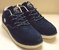 Ботинки мужские SAYOTA синие замшевые