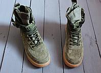 Кроссовки мужские высокие хаки Nike Special Field Air Force (аир форс, реплика) (реплика)