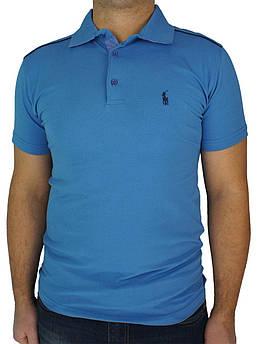 Мужская тенниска реплика P Ralph Lauren 0270 в синем цвете