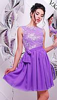 Женское нарядное платье с гипюром (3 цвета)