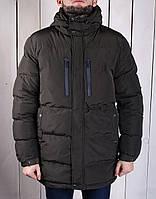 Куртка парка мужская на зиму теплая GLO - STORY khaki