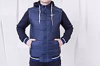 Мужская спортивная куртка-жилетка зимняя Nike Blue