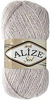 Детская пряжа Alize Sal Sim белая зима №168для ручного вязания